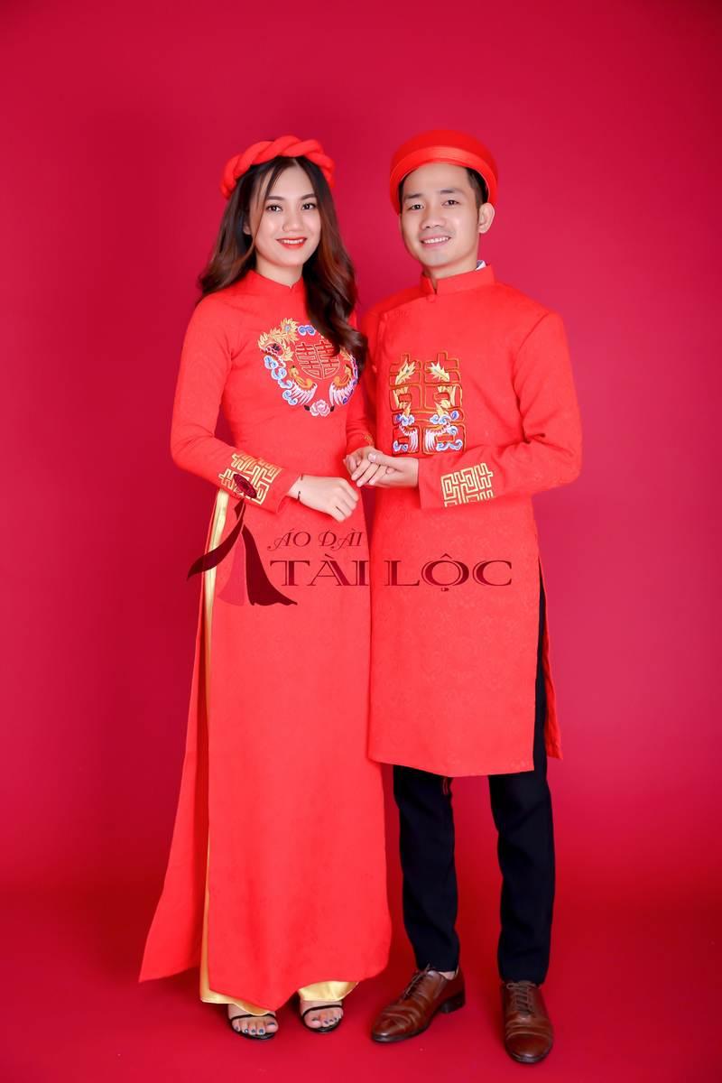 Cho thuê áo dài cưới cặp