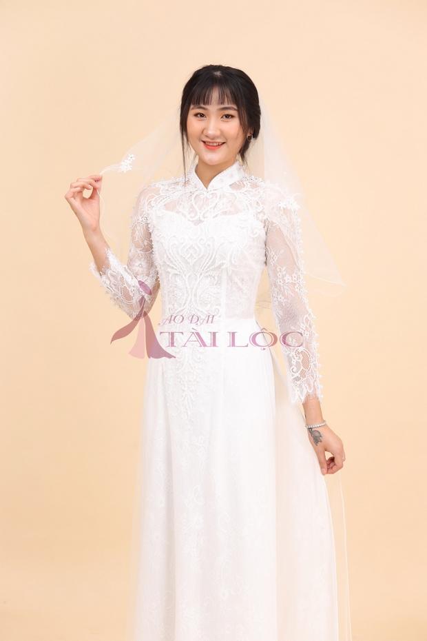 Áo dài cô dâu vải ren