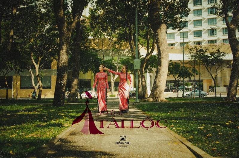 Áo dài cô ba Sài Gòn cho dàn bưng quả ngày cưới