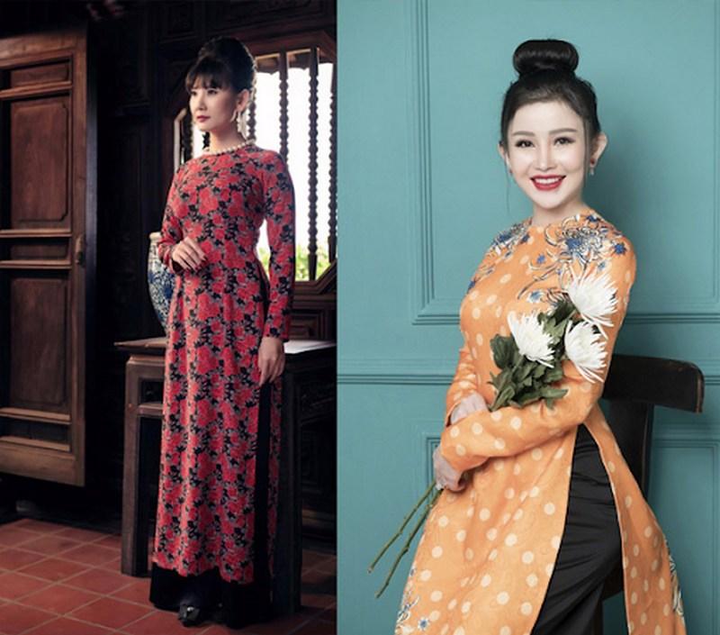 Áo dài Cô Ba Sài Gòn xưa tôn lên sự nhẹ nhàng của người phụ nữ