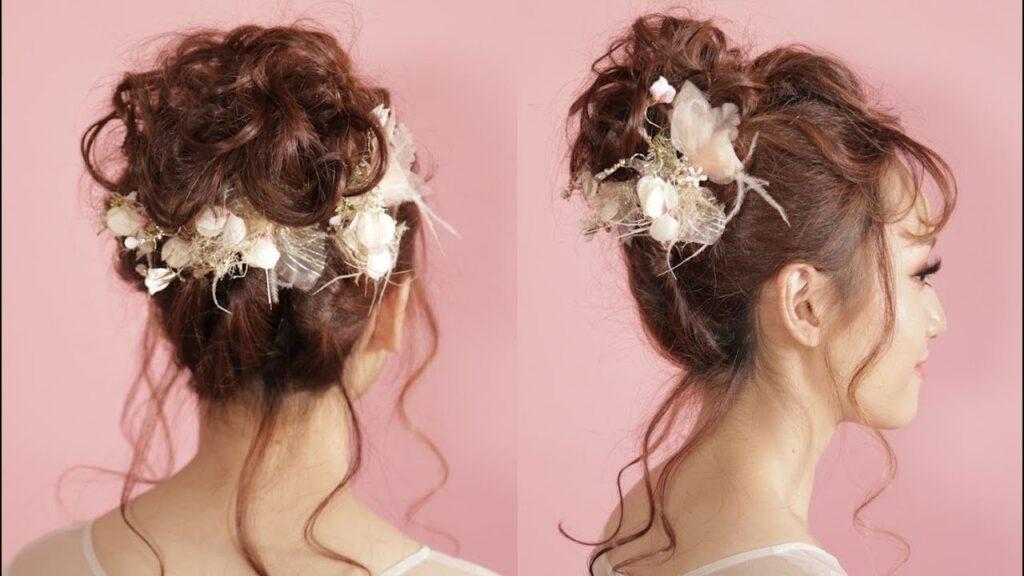 Mẫu tóc cô dâu búi đánh rối