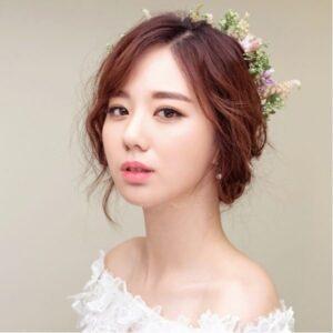 Kiểu Tóc cô dâu Hàn Quốc Đẹp