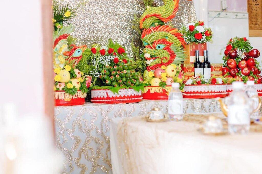 Mâm quả đám cưới ngày càng đa dạng, đẹp và ấn tượng.