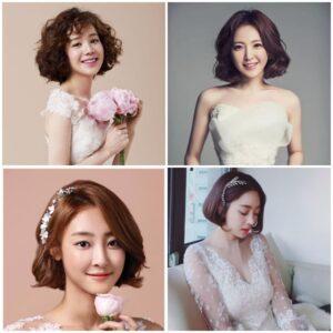 Các cô dâu tóc ngắn có rất nhiều lựa chọn kiểu tóc đẹp và ấn tượng.